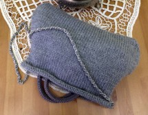 Bolso llana gris